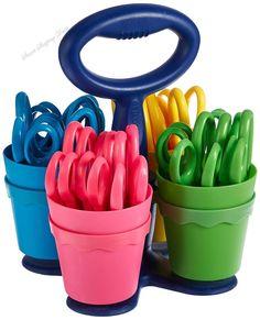 School Scissor Caddy and Kids Scissors School Supplies Kids Desk Accessories  #Westcott