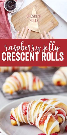Raspberry Crescent Rolls: a delicious sweet dessert that is quick to prepare and. - Raspberry Crescent Rolls: a delicious sweet dessert that is quick to prepare and uses pre-made cres - 13 Desserts, Dessert Dips, Yummy Dessert Recipes, Dessert Skewers, Tortilla Dessert, Tea Party Desserts, Picnic Desserts, Disney Desserts, Party Sweets