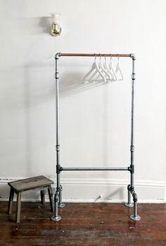 I made this rack last week! Feelin proud! #diy #clothing rack #palets #pallets…
