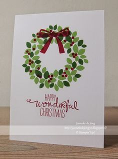 Stampin' Up! Demonstratrice Janneke : Stampin' Up! - Happy Wonderful Christmas
