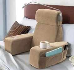 If your bed is your happy place, then using the NAP Massaging Bed Rest must be Disneyland. The plush material of the NAP Massaging Bed Rest is like that of a Things To Buy, Things I Want, Good Things, Getting A Massage, Take My Money, Smart Tiles, Gadgets And Gizmos, Spy Gadgets, 2017 Gadgets