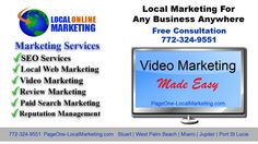 Video Marketing Services for Local Businesses in Port St. Lucie, FL and Fort Pierce, FL - http://PageOne-LocalMarketing.com (772) 324-9551. Complete Video Ma...