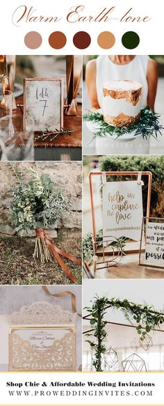 Rustic Wedding Colors, Fall Wedding Colors, Wedding Color Schemes, Color Themes For Wedding, Wedding Colour Palettes, Rustic Wedding Theme, Cozy Wedding, Wedding Colora, Autumn Wedding Decorations