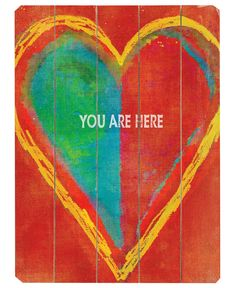 ArteHouse Wall Art, You Are Here Wooden Sign by Lisa Weedn - Wall Art - for the home - Macy's