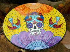 Check out this item in my Etsy shop https://www.etsy.com/listing/293830811/sugar-skull-coffee-table-day-of-the-dead