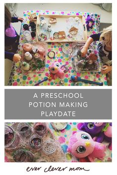 A Preschool Potion Making Playdate. This science activity was inspired by Little Charmers​ on Nick Jr. - very fun! http://everclevermom.com/2015/10/a-preschool-potion-making-playdate/  #LittleCharmers #CG #ad