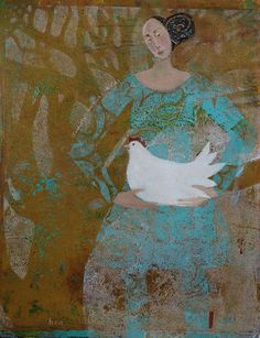 Hen, monotype print, collage and acrylics, all images copyright of Judith Logan Art Gelli Plate Printing, Gelli Arts, Plate Art, Painting People, Portraits, Sculpture, Print Artist, Collage Art, Collages