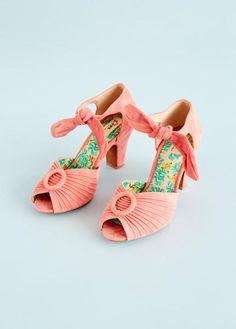 Pump i rosa ruskind | Miss L-fire | Køb online - Dress the bird