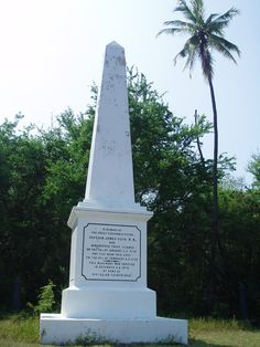 Captain Cook Monument - Kealakekua Bay, Hawaii. This is where Capt. Cook was killed by the native Hawaiians when they realised he was not a god.