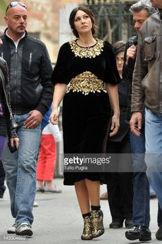 News Photo : Model and actress Monica Bellucci is seen on the...