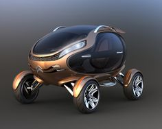 Futuristic Vehicle, Citroen EGGO – Electric Car By Damnjan Mitic