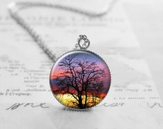 Tree of Life Necklace, Inspirational Charm, N082