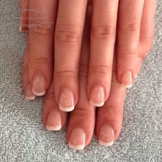 Gel overlays with french polish #gel #overlays #gelpolish #orly #orlywhitetips #orlyfirstkiss #frenchmani #whitetips book yours today on 01376 560 600. #thebeautycentrebraintree or visit: http://thebeautycentrebraintree.co.uk/beauty/nail-enhancement/