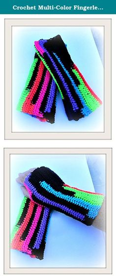 Crochet Multi-Color Fingerless Women's Winter Mittens Arm Warmer. Multi-color fingerless mittens are hand crocheted . Mittens are 10 inches in length and are handmade using acrylic yarn. Easily cleaned, just hand wash and lay flat to dry. Prefect for spring, fall and winter. Made in children's sizes as well. Fingerless mittens can be made in all colors and sizes, please feel free to email me with any questions you may have. All of our items are handmade in a smoke free studio.