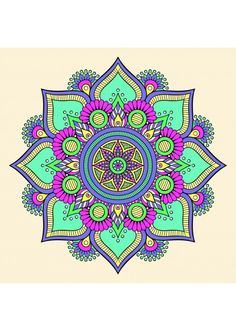 Mandala Wall Sticker, Colorful Mandala Wall Decal, Buddha Decor for Home, Removable Vinyl Sticker, Yoga Wall Art Mandala muur Sticker kleurrijke Mandala muur sticker Boeddha Mandala Doodle, Mandala Drawing, Zen Doodle, Mandala Coloring, Colouring Pages, Wall Decals, Wall Art, Wall Sticker, Buddha Decor