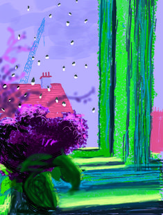 iPad painting by David Hockney