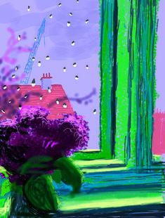 iPad painting by David Hockney