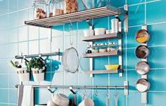 Form Follows Function | Home Ideas. IKEA kitchen wall storage