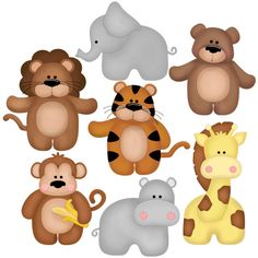 paper piecing zoo babies- could use this for pattern for appliqué Paper Punch Art, Punch Art Cards, Kids Cards, Baby Cards, Arte Punch, Felt Crafts, Paper Crafts, Craft Punches, Marianne Design