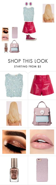 """""""u prefer star butterfly light/starpink1"""" by miliorobb on Polyvore featuring Lace & Beads, Georgine, Converse, Barry M, Forever 21 and BillyTheTree"""