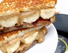 grilled peanut-butter and banana