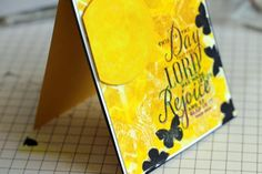 The Mixed Media Card Challenge #22 – April – Sunshine – Reminder 2 | honeybeelane