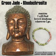 Rhodochrosite represents selfless love and compassion. It is a wonderful stone to use when working with the Heart #Chakra and relationships. #love #yoga #mala #women #men #bracelets #bracelet #goals #happiness #bead #mantra #healing #zen #meditate #karma #style #prayer #spiritual #meditation #friendship #lucky #gift #buddhist #buddha #fitness #luck #luxury #power #energy #crystal #grateful #motivate #mensstyle #green #pink #heart #jade #artisan #handmade #jewelry #OOAK #fashion