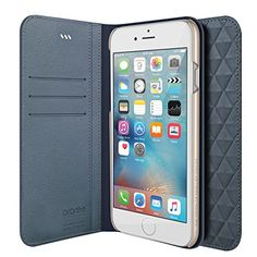iPhone Plus Wallet Case, Araree [Diamond Cube] Genuine Leather Diamond Pattern Wallet Case Flip Cover with Credit Card Holder for iPhone Plus Wallet, iPhone 6 Plus Case (Blue) 6s Plus Case, Iphone 6 Plus Case, Buy Iphone 6, Apple Iphone 6s Plus, Wallet Pattern, Perfect Gift For Her, Id Holder, Diamond Pattern, Protective Cases