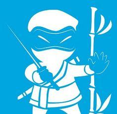 Stencil Ninja 17 x 21cm - STM 130 Litoarte - Stencil 17 x 21cm - Stencil ou molde vazado - Empório Janial