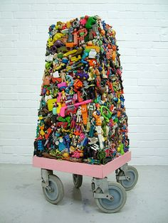 "Wayne Chisnall.  ""why I save ""good stuff"" art sculpture installation"