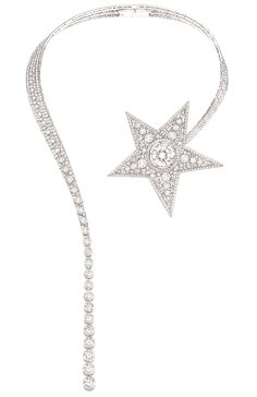 "Chanel ""Comète"" necklace in 18-karat white gold set with a 14,8-carat round-cut diamond, 823 round-cut diamonds for a total weight of 61 carats and 34 princess-cut diamonds for a total weight of 1.9 carat.s total de 1.9 carat."