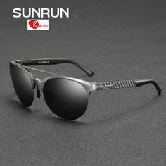 SUNRUN Men Polarized Sunglasses Aluminum Magnesium Semi Rimless Sun Glasses for Women Brand Design gafas de sol 8592 mens fashion casual *** AliExpress Affiliate's buyable pin. Click the VISIT button for detailed description on www.aliexpress.com #MensSunglasses