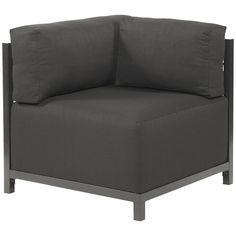 Howard Elliott Sterling Charcoal Axis Corner Chair - Titanium Frame K921T-201