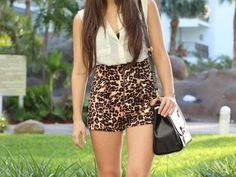 leopard pring high-waist shortsss ♥