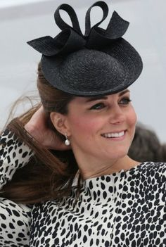 13 June 2013 - Black Sylvia Fletcher For Lock & Co Hat