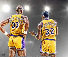 Abdul Jabbar and Magic Johnson by lisong24kobe on deviantART Old school Lakers equal GREATNESS!