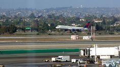 Delta Boeing 757-200 im Landeanflug auf LAX - Check more at http://www.miles-around.de/trip-reports/economy-class/lufthansa-boeing-747-8-economy-class-los-angeles-nach-frankfurt/,  #747-8 #Airport #avgeek #Aviation #Boeing #EconomyClass #Flughafen #FRA #Kalifornien #LAX #LEJ #Lounge #Lufthansa #LufthansaSenatorLounge #StarAllianceLounge #Trip-Report #USA