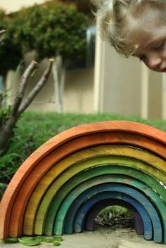 DIY wooden rainbow arches--blocks to foster creativity (full tutorial )
