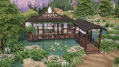 49 Fantastic Luxury Garden Décor Ideas – Design – Welcome Minecraft Japanese House, Minecraft Cottage, Cute Minecraft Houses, Minecraft House Designs, Minecraft Ideas, Sims 4 House Plans, Sims 4 House Building, Lotes The Sims 4, Sims 3
