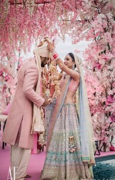 Dreamy Bridal Lehenga every bride-to-be Dreams of you! Indian Wedding Gowns, Muslim Wedding Dresses, Indian Bridal Lehenga, Indian Bridal Outfits, Indian Bridal Wear, Desi Wedding, Red Lehenga, Indian Weddings, Pink Bridal Lehenga