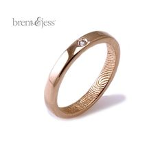 Brent fingerprint rings: now with even MORE personality! | Offbeat Bride
