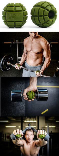 Grenade Bar Grips Get more out of your workouts by outfitting your dumbbells with these grenade bar