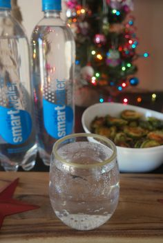 A Very Sparkling Holiday Pairing | Sweet & Spicy Brussels Sprouts & smartwater sparkling. #LetYourHolidaySparkle #ad
