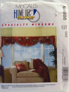 McCall's 4886 Bay Window Treatment