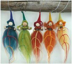 Items similar to Leaf-Imp - simply magical on Etsy Felted Wool Crafts, Felt Crafts, Easy Crafts, Wet Felting, Needle Felting, Felt Angel, Girl Scout Activities, Autumn Fairy, Felt Fairy