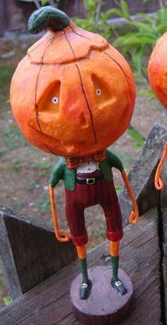 """Jack Dandy"" -  Lori C. Mitchell Halloween Figure - love her line of folk art figures!"