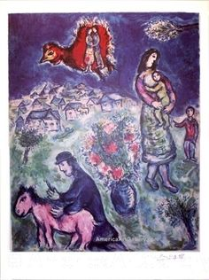 Shop for ''Sur la Route du Village'' by Marc Chagall Limited Editions Art Print x in. Get free delivery On EVERYTHING* Overstock - Your Online Art Gallery Store! Marc Chagall, Artist Chagall, Chagall Paintings, Cool Paintings, Matisse Paintings, Indian Paintings, Pablo Picasso, Concept Art Gallery, Atelier D Art
