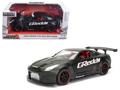 2009 Nissan GT-R (R35 ) Ben Sopra Matt Black JDM Tuners 1/24 Diecast Model Car by Jada - Brand new 1:24 scale diecast model car of 2009 Nissan GT-R (R35 ) Ben Sopra Matt Black JDM Tuners die cast car model by Jada. Rubber tires. Brand new box. Detailed interior, exterior. Opening doors and hood. Made of diecast with some plastic parts. Dimensions approximately L-8, W-3.75, H-3.25 inches. Please note that manufacturer may change packing box at any time. Product will stay exactly the…