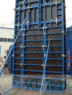 Опалубку делят на три типа:   1)Опалубка стен 2)Опалубка колон 3)Опалубка перекрытия.