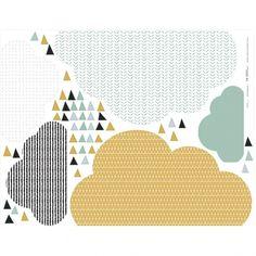 ikea-bilderleiste-mit-wandtattoo-wolken-pimpen-senf-mint-3